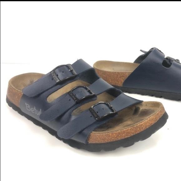 f42d4cdd29c9 Birkenstock Shoes - Betula by Birkenstock Leo Navy Footbed Sandals